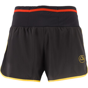La Sportiva Tempo Korte Broek Heren, zwart/geel